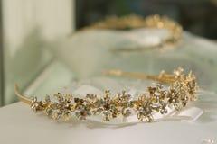 Golden wedding clip Stock Photography