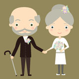 Golden wedding Stock Photos