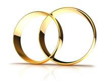 Golden wedding rings Royalty Free Stock Image