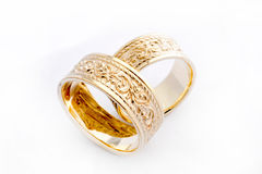 Golden Wedding Rings Royalty Free Stock Images