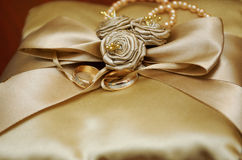 Golden wedding rings. Royalty Free Stock Images