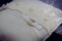 Golden wedding rings closeup Stock Images