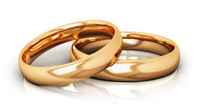 Golden wedding rings Stock Photography