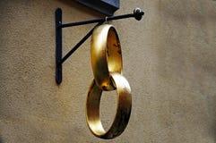 Golden wedding rings Stock Photography