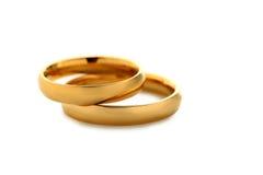 Golden wedding rings Stock Photo
