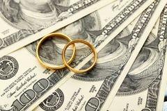 Golden wedding rings Stock Image