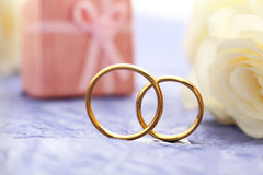 Golden wedding rings Stock Photos