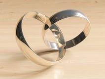 Golden wedding rings Stock Images