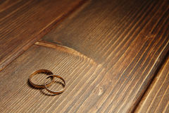 Golden wedding rings Royalty Free Stock Photos