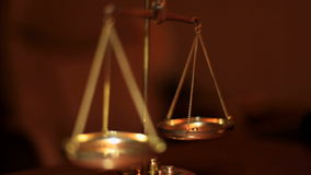 Golden Weight Scales Balancing stock footage