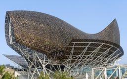 Golden whale sculpture Stock Images