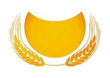Golden wheat. Illustration isolated on white Stock Photography
