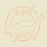 Golden Wheat label hand drawn  eps 10 Stock Photo