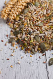 Golden wheat with mixed seeds Royalty Free Stock Images