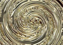 Golden whirlpool swirl shining backgrounds Royalty Free Stock Photos