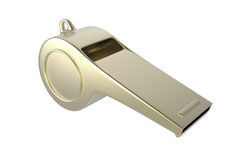Golden whistle Royalty Free Stock Photography