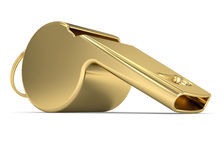 Golden Whistle Royalty Free Stock Photo