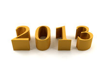 2013 Year. Golden 2013 on white background vector illustration