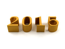2015 year. Golden 2015 on white background Royalty Free Stock Photos