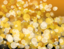 Golden and white bokeh Royalty Free Stock Photos