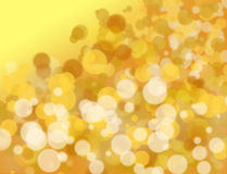 Golden and white bokeh Royalty Free Stock Image