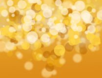 Golden and white bokeh. Royalty Free Stock Image