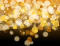 Golden and white bokeh. Royalty Free Stock Images