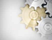 Golden and white gear Royalty Free Stock Image