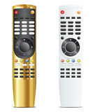 Golden and white remote control Royalty Free Stock Photos
