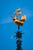 Golden wind vane Stock Photography