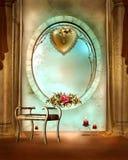 Golden window Stock Photo
