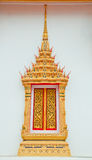 Golden window  buddhist  temple. Is beautiful Stock Images