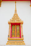 Golden window  buddhist  temple Stock Image