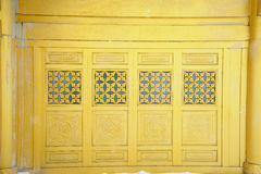 Golden window of  temple  at MT.Emei Royalty Free Stock Photo
