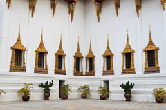 Golden windows of Grand Palace Stock Image