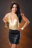 Golden wine Stock Photography