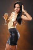 Golden wine Stock Photos