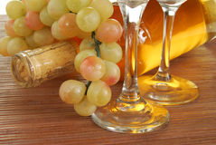 Golden wine Royalty Free Stock Photography