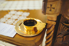 Golden Wine Cup Royalty Free Stock Photos