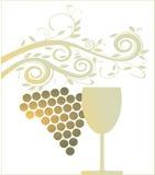 Golden wine glass Stock Image