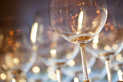 Golden Wine Glasses Stock Image