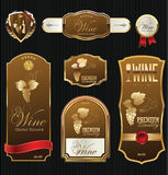 Golden wine label collection Stock Photography