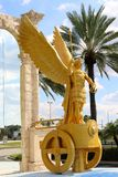 Golden Winged Centurion Statue Royalty Free Stock Photo