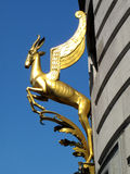 Golden Winged Springbok Sculpture Royalty Free Stock Photography