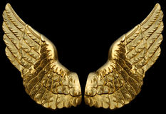 Golden Wings Royalty Free Stock Photos