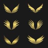 Golden Wings emblem Royalty Free Stock Photos