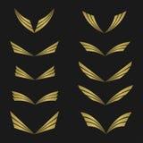 Golden Wings emblem Stock Photos