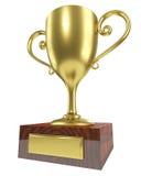 Golden winner trophy cup Stock Photos
