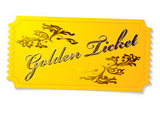 Golden winning ticket Royalty Free Stock Images