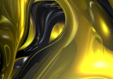 Golden wire 02. A Study of Form&Colors, rendered in Bryce Stock Photo